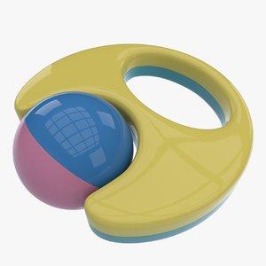 3d model rattle toy