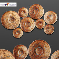 disc wall decor world 3d model
