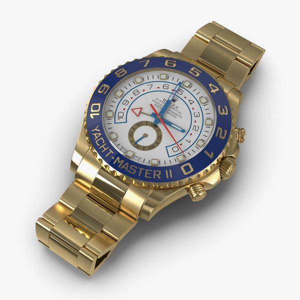 3d rolex yachtmaster ii oyster model