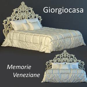 bed memorie veneziane 3d model