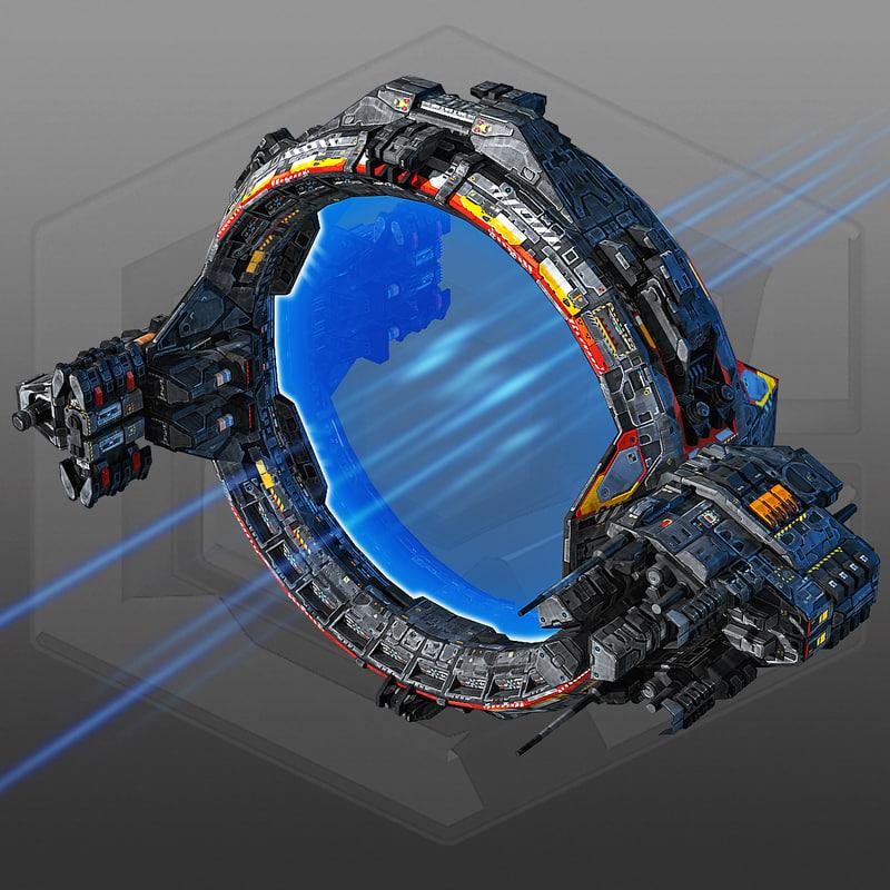 3d model scifi jumpgate