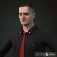 3d model of human male man
