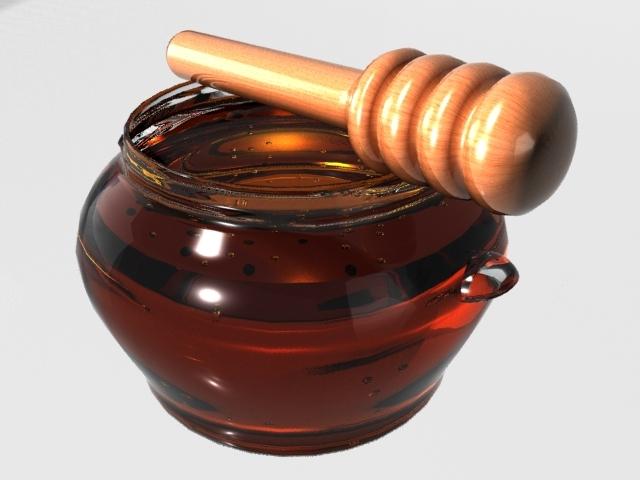 realistic honey jar 3d model