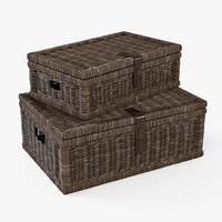 Wicker Basket 06 (Walnut Brown Color)