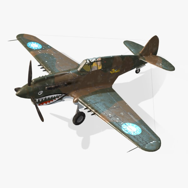 obj american p-40e real-time