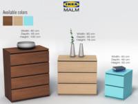3d model drawer chest ikea