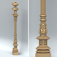 3d carved column