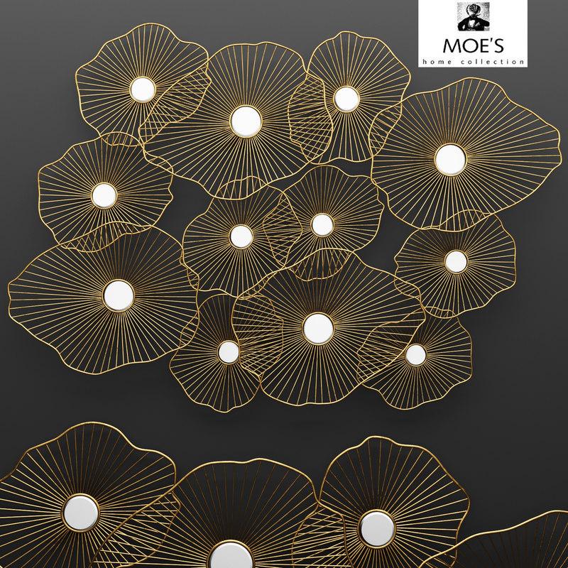 lily pad wall decor 3d model