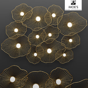 lily pad wall decor 3d model