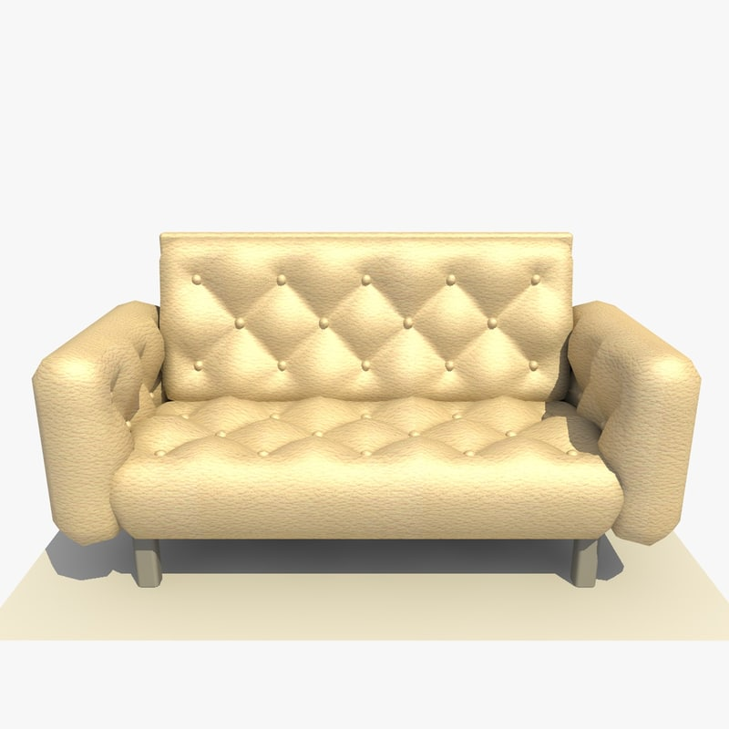 leather sofa comfy chair c4d