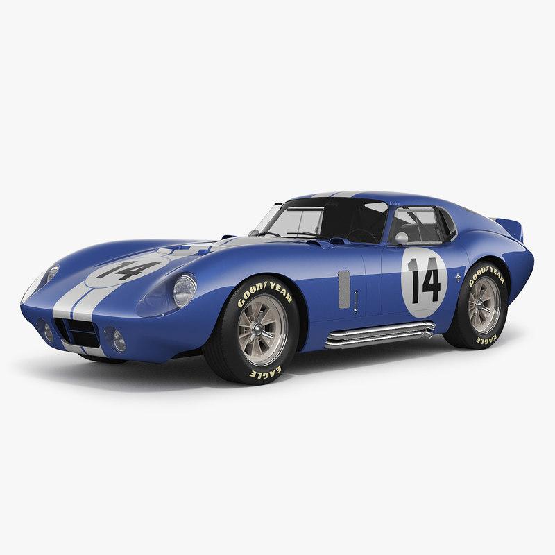 3d model shelby daytona cobra 1964