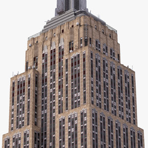 3d model empire state building landmark
