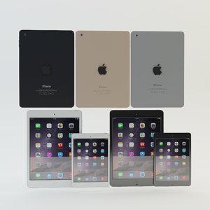 apple ipad air mini 3d max