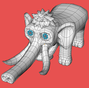3d model of mamonth