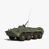 amphibious armoured personnel carrier 3d max