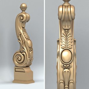 3d newel post model