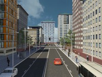 city scene 3d 3ds