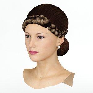 3d max hair wig