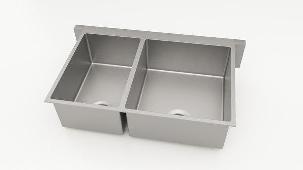 kitchen sink 3d c4d