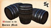 3d model ready storage barrel fantasy medieval