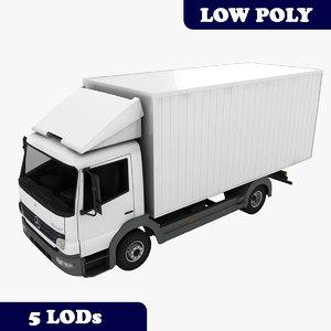mercedes-benz atego truck lods 3d 3ds