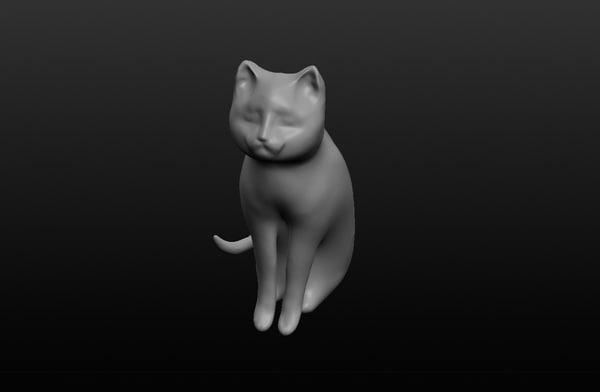 3d realistic cat model
