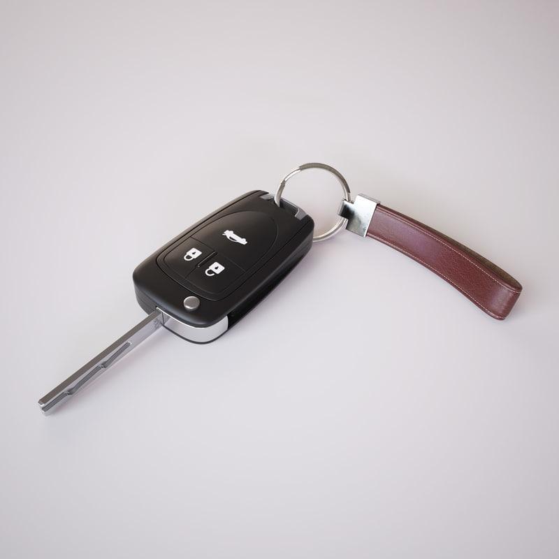 car key 3d obj
