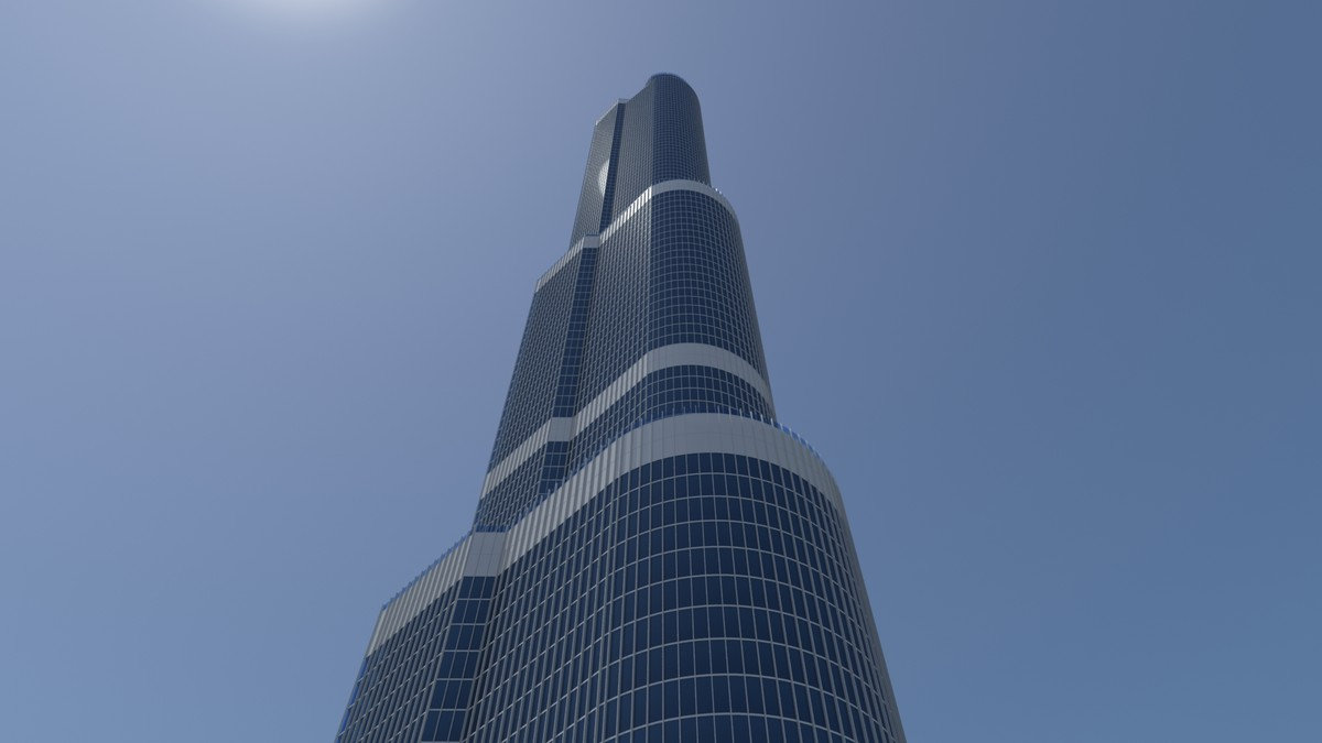 3d trump tower chicago building