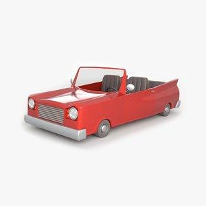 red toon car 3d model