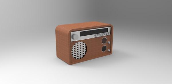 old vintage radio obj free