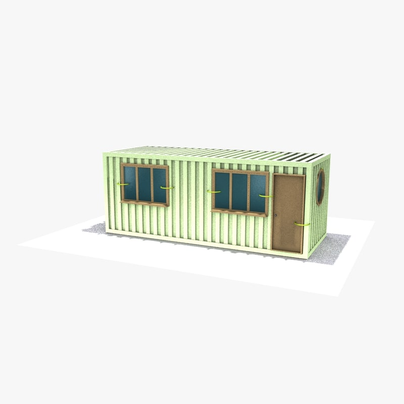 3d office container home
