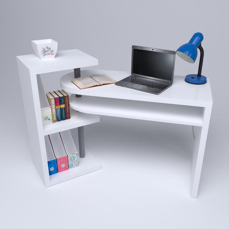 Home office desk 3d c4d for Schreibtisch 3d modell