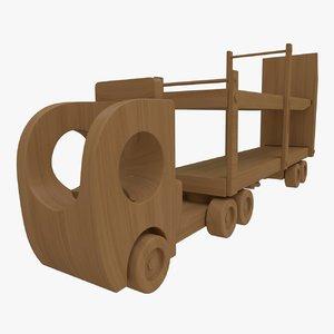 wooden toy truck fbx