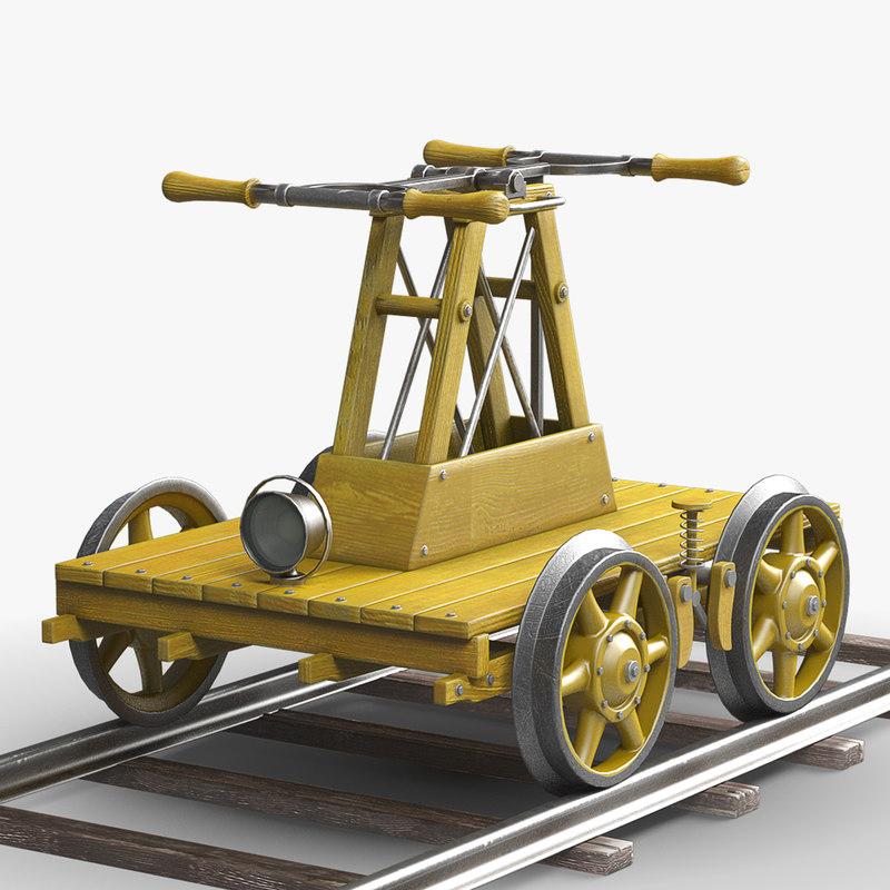 3d rail handcar
