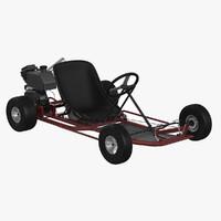 racing go-kart 3d model
