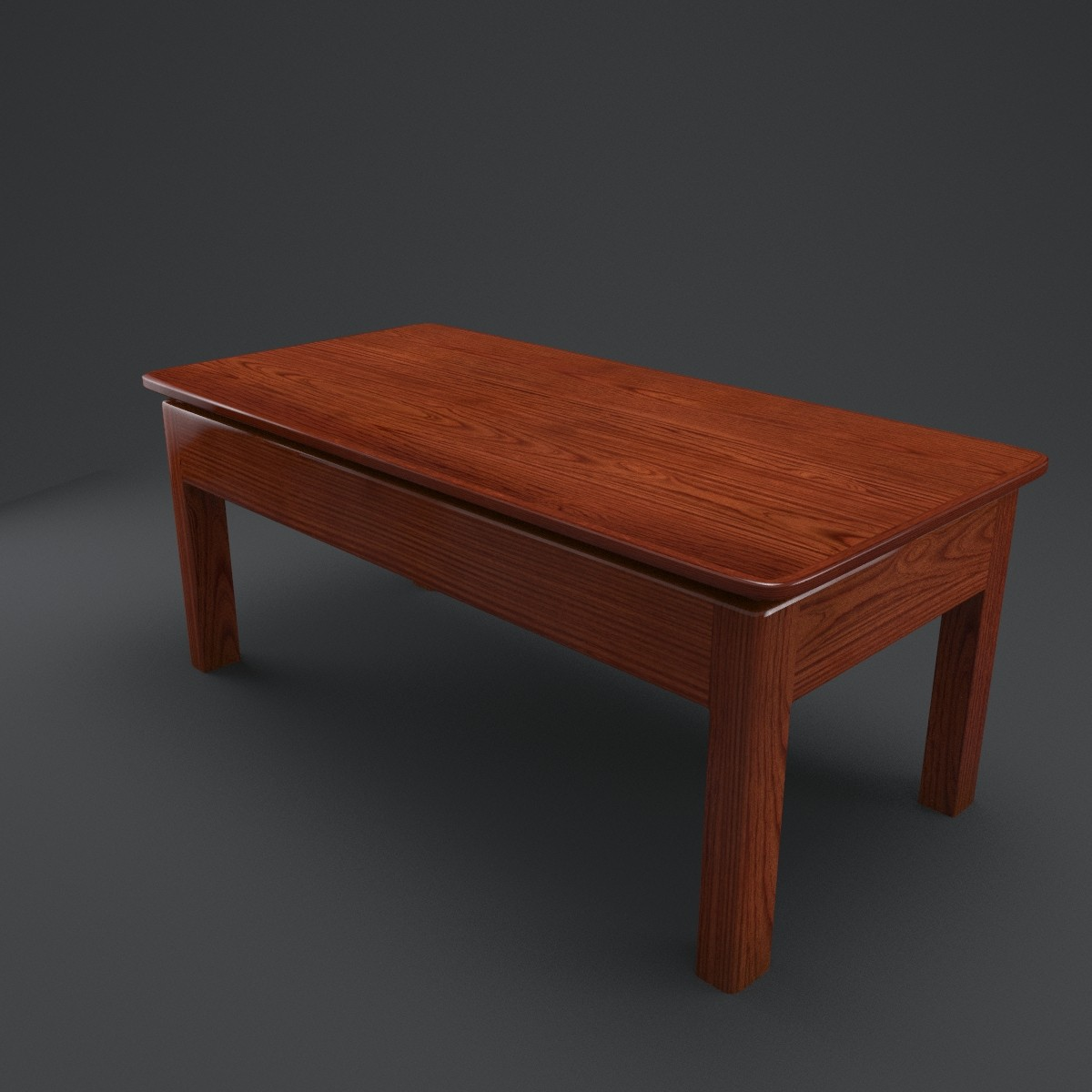 coffee table mahogany 3d 3ds