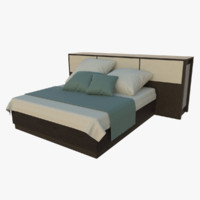 king size bed obj