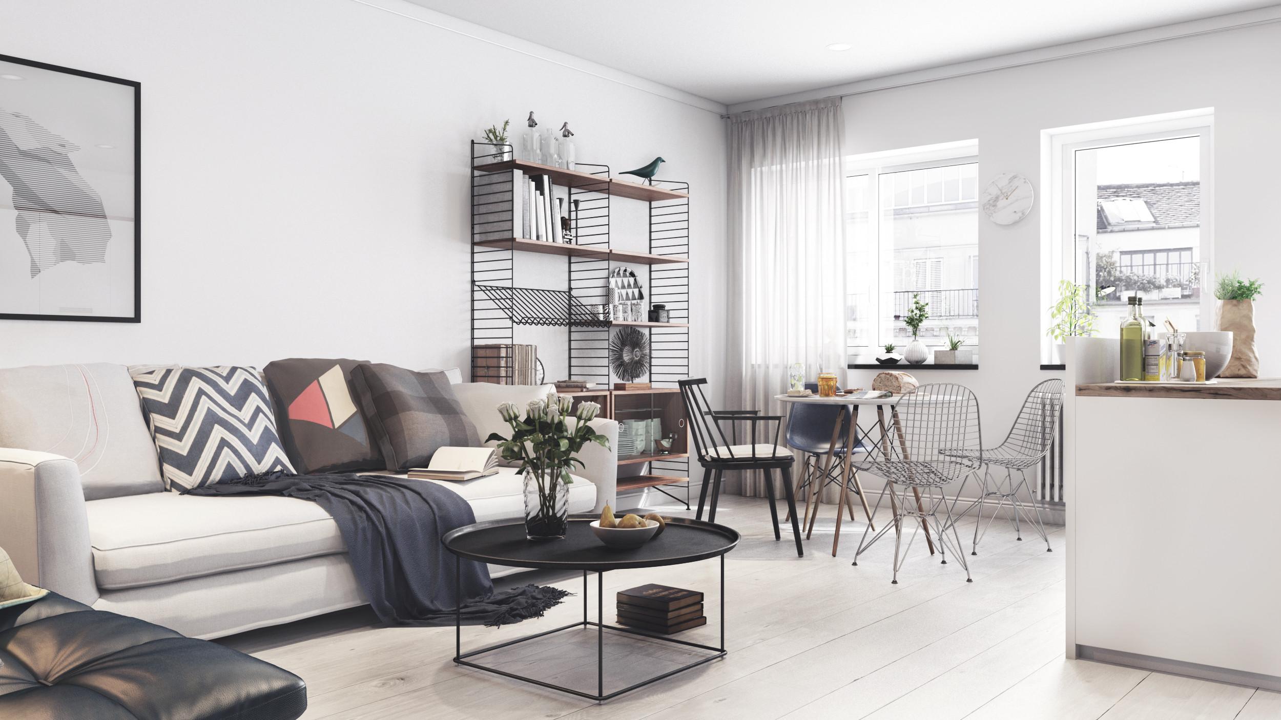 scandinavian apartment - ready 3d model