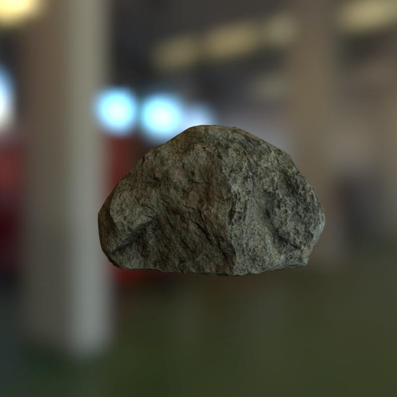 rock unity3d 3d model