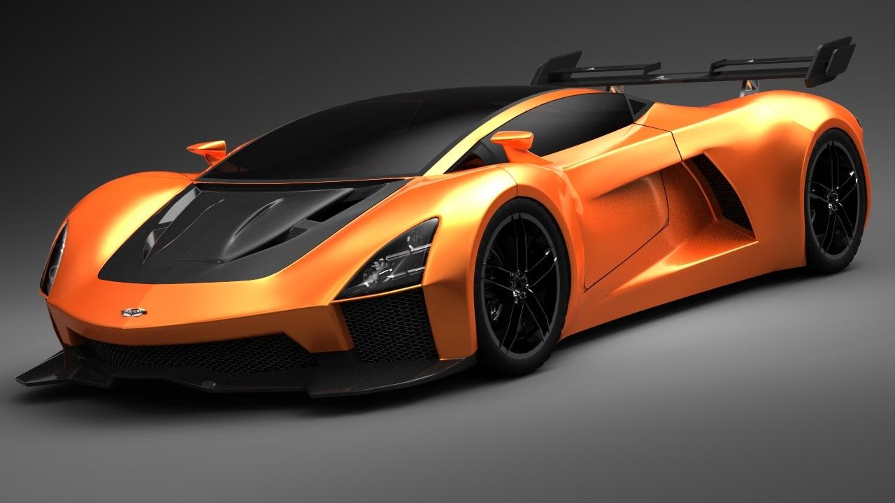 3d vendetta car concept model
