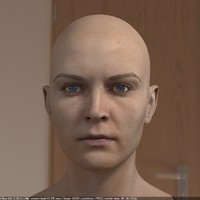 woman head female realistic 3d max