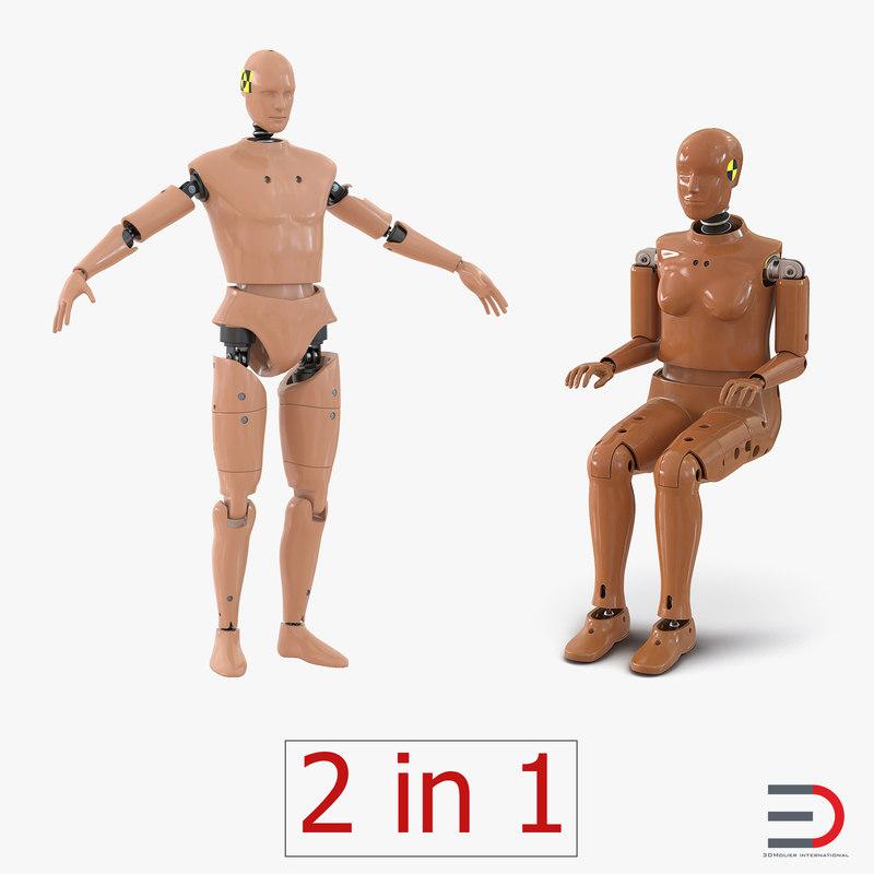 3d crash test dummies