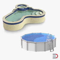 Swimming Pools 3D Models Collection