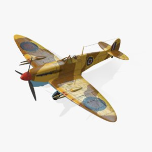 3d model of british spitfire mk vc