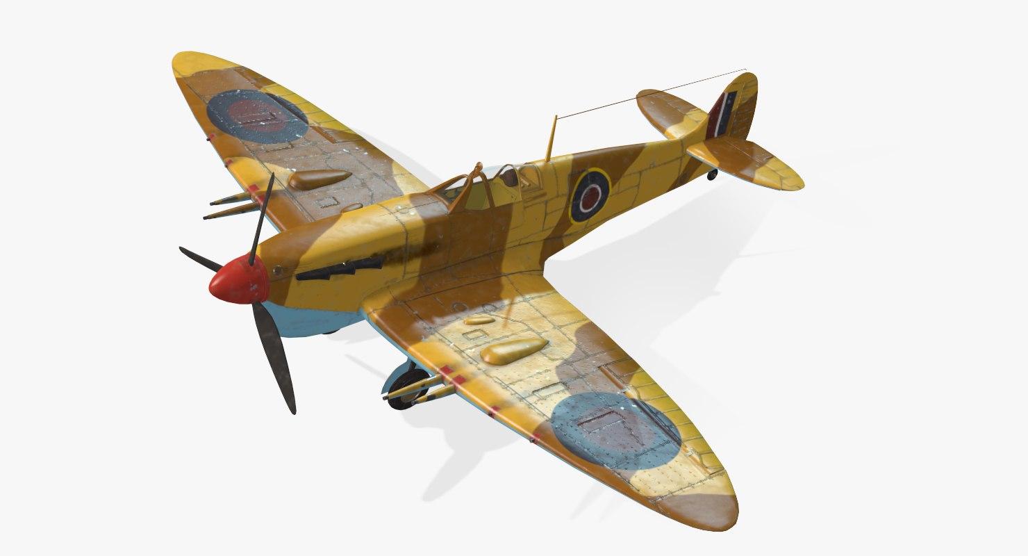 3d model of british spitfire mk vc