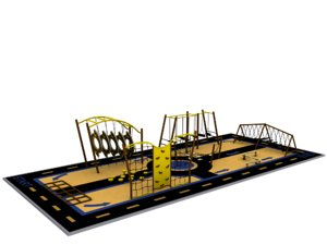 obstacle play 3d model
