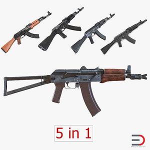 c4d assault rifle ak 2