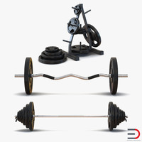 Barbells 3D Models Collection 2
