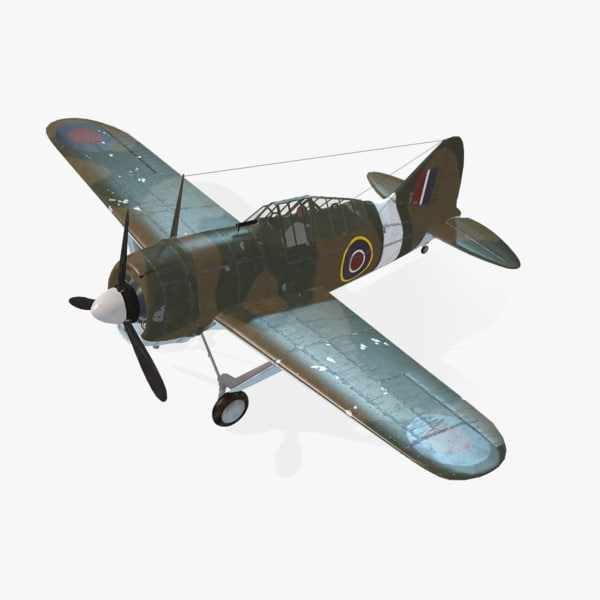 american f2a buffalo real-time 3d model