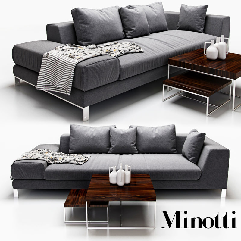 sofa minotti hamilton islands 3d obj
